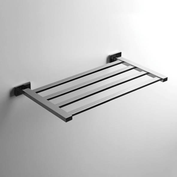 designer handtuchablage look 50cm eckig quadro rack handtuchhalter massiv chrom. Black Bedroom Furniture Sets. Home Design Ideas