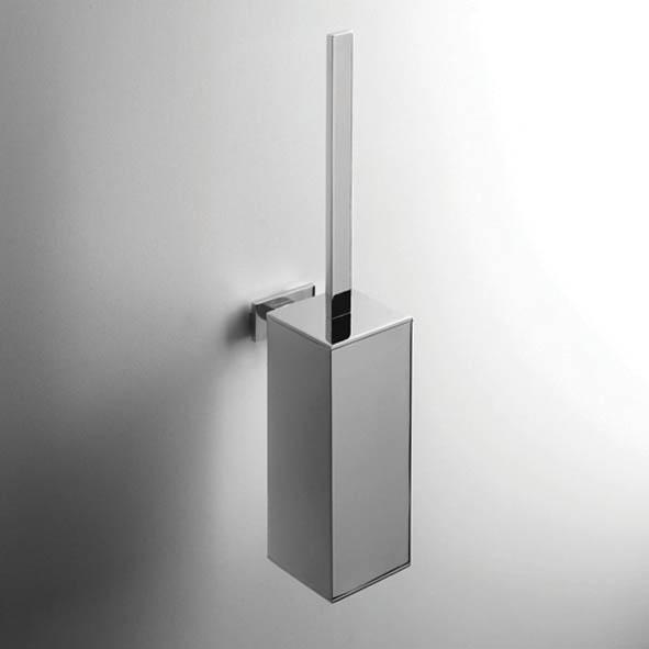 designer wand b rstengarnitur look eckig quadro massiv metallbeh lter chrom. Black Bedroom Furniture Sets. Home Design Ideas