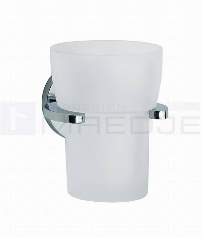 Design Glashalter LOFT, satiniertes Glas, Halter aus massiven