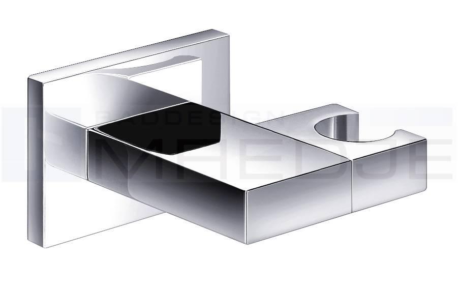 deusenfeld design brausehalter quadro 08 verstellbar chrom. Black Bedroom Furniture Sets. Home Design Ideas