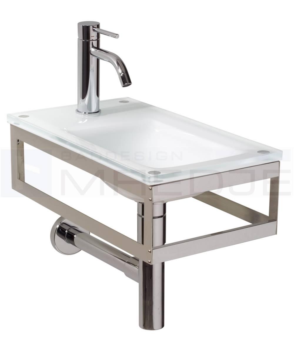 design g ste glas waschtisch pocia 26x45 cm white milk. Black Bedroom Furniture Sets. Home Design Ideas