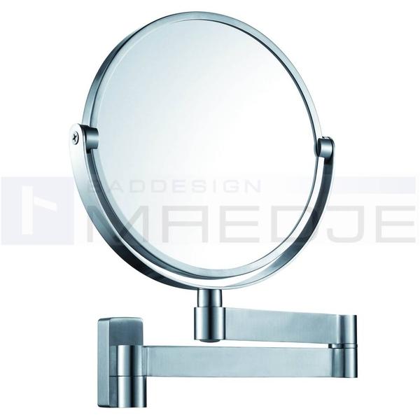 design edelstahl wand kosmetikspiegel 5 fach vergr erung und normalspiegel matt geb 2 wahl. Black Bedroom Furniture Sets. Home Design Ideas