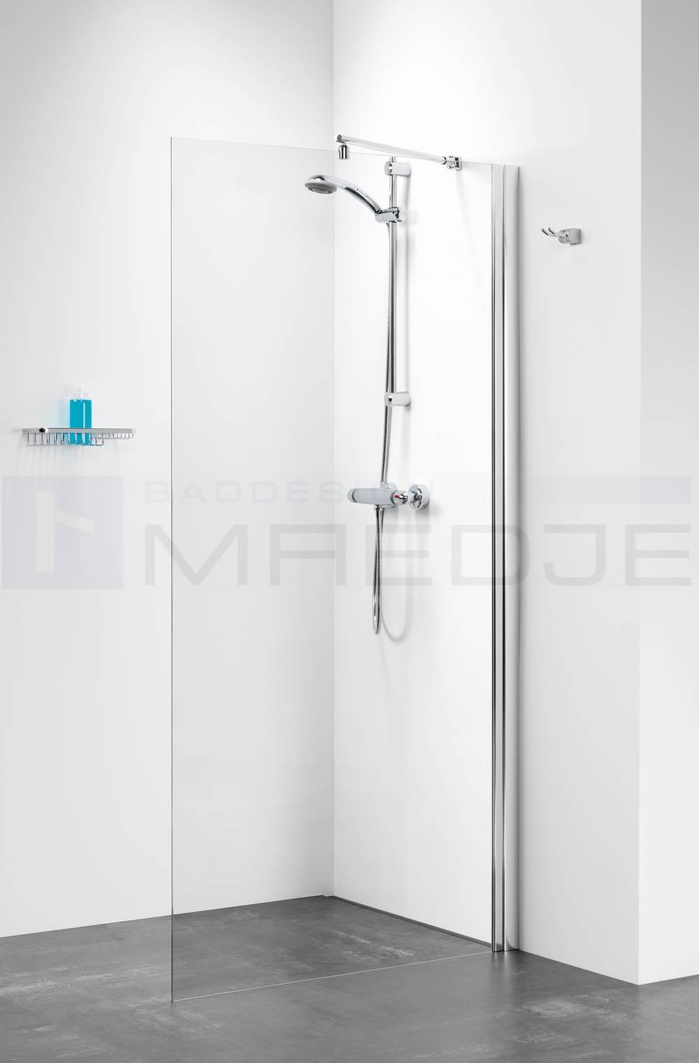sealskin duschabtrennung walk in 75x195cm profil chrom 6mm esg klar. Black Bedroom Furniture Sets. Home Design Ideas