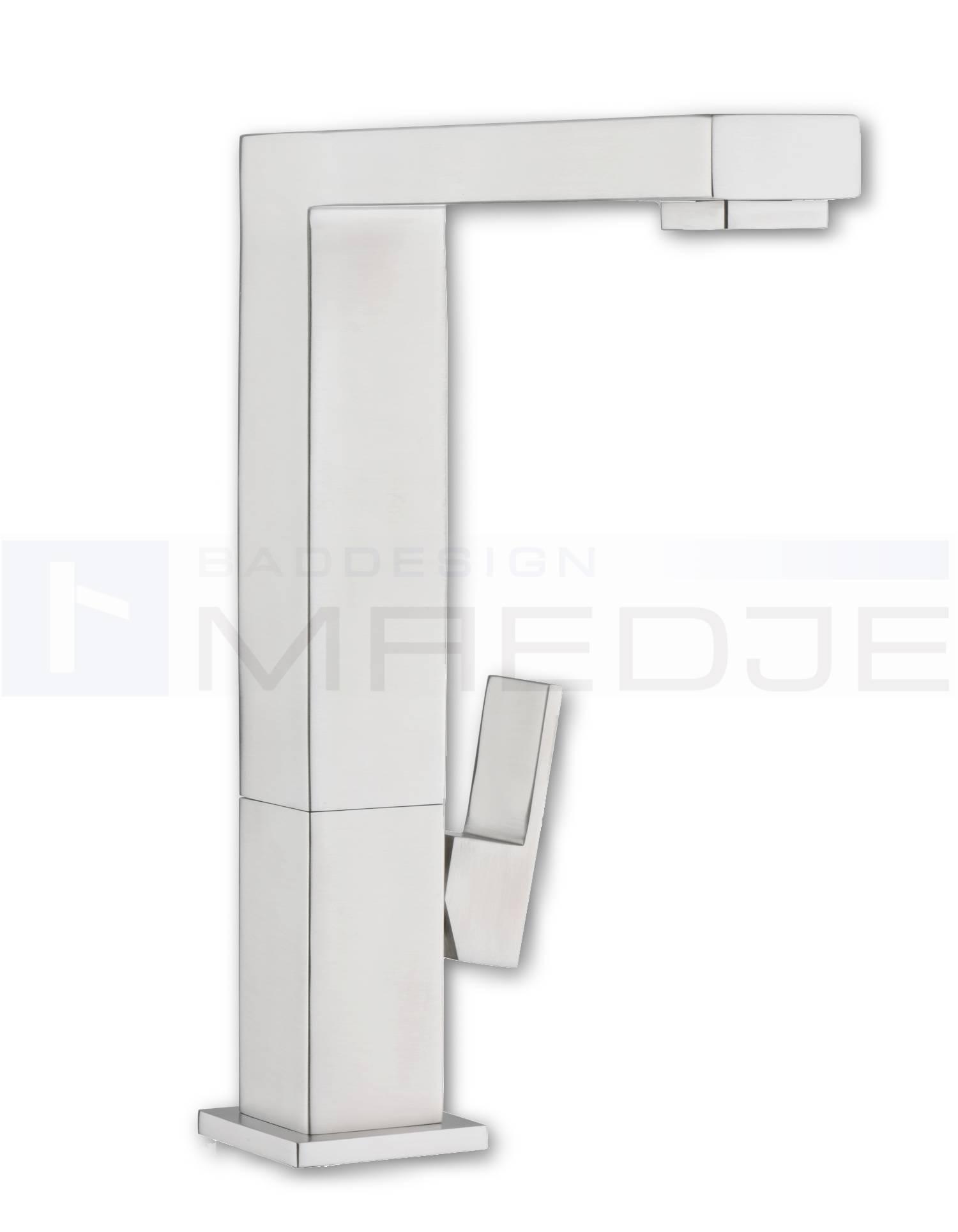 Design Quadro Edelstahl Küchen Armatur Eckig