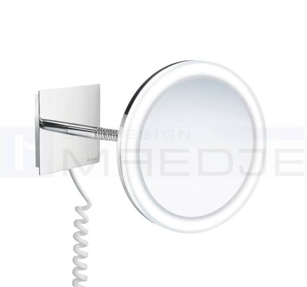 beleuchteter led kosmetikspiegel fk475 3 fach vergr erung 20cm flexibler arm acryl und chrom. Black Bedroom Furniture Sets. Home Design Ideas