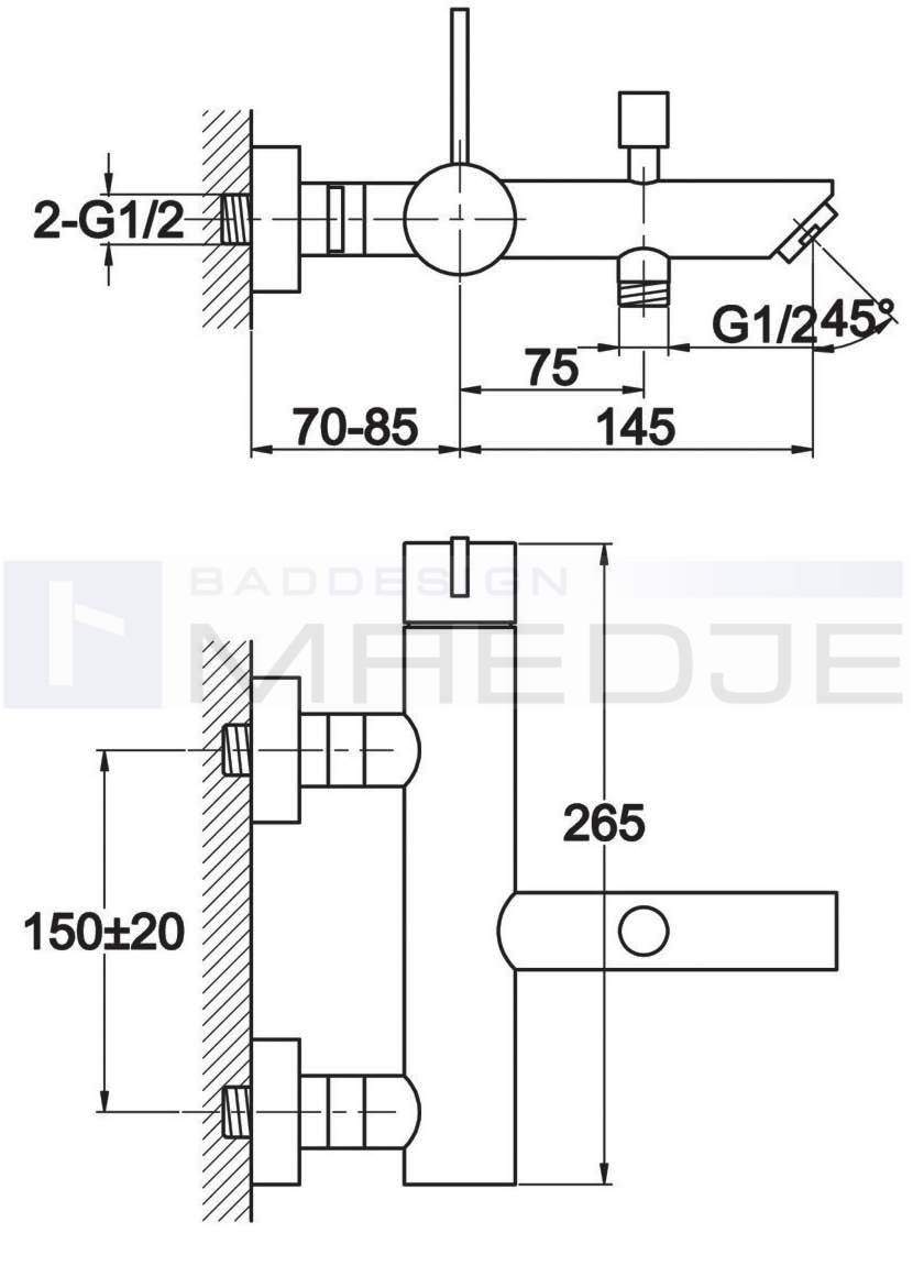 design wannen armatur q10 umsteller 1 2 schlauchanschluss chrom. Black Bedroom Furniture Sets. Home Design Ideas