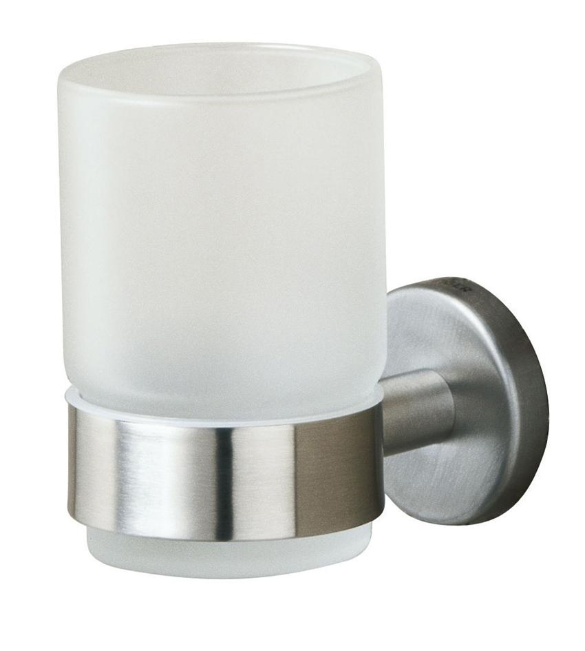 design edelstahl becherhalter boston 1 fach oberfl che edelstahl poliert oder matt geb rstet. Black Bedroom Furniture Sets. Home Design Ideas