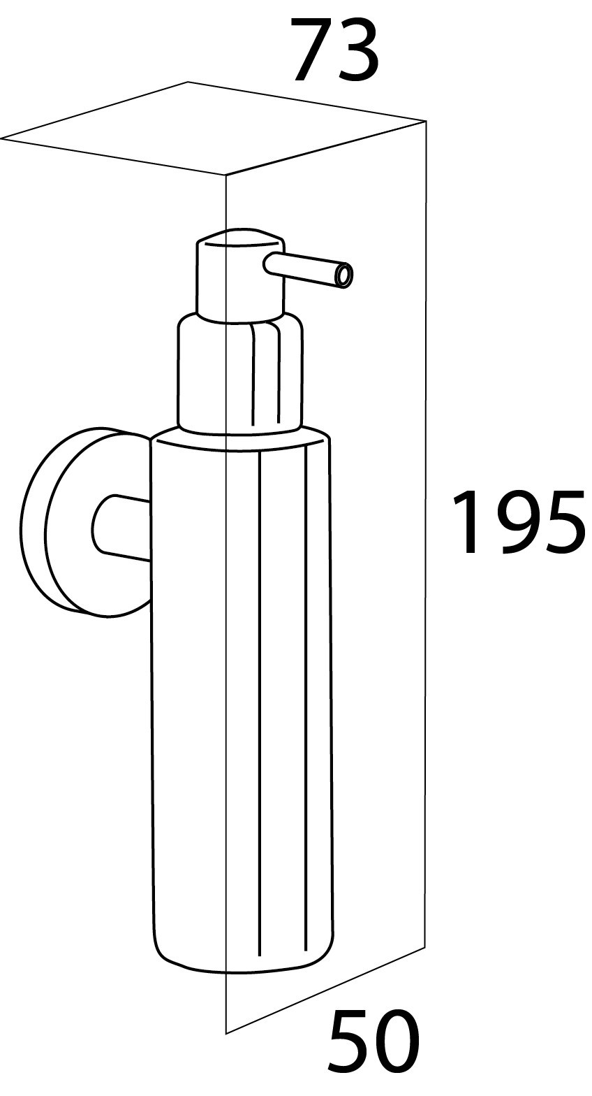 design xs edelstahl wand seifenspender boston oberfl che edelstahl poliert oder matt geb rstet. Black Bedroom Furniture Sets. Home Design Ideas