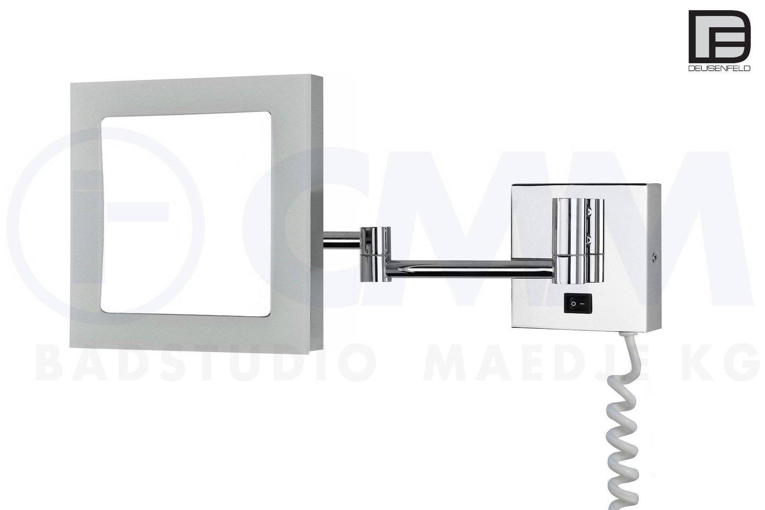 deusenfeld kp544 led kosmetikspiegel quadro 5x vergr erung 20 5cm pmma leuchtfeld tageslicht. Black Bedroom Furniture Sets. Home Design Ideas