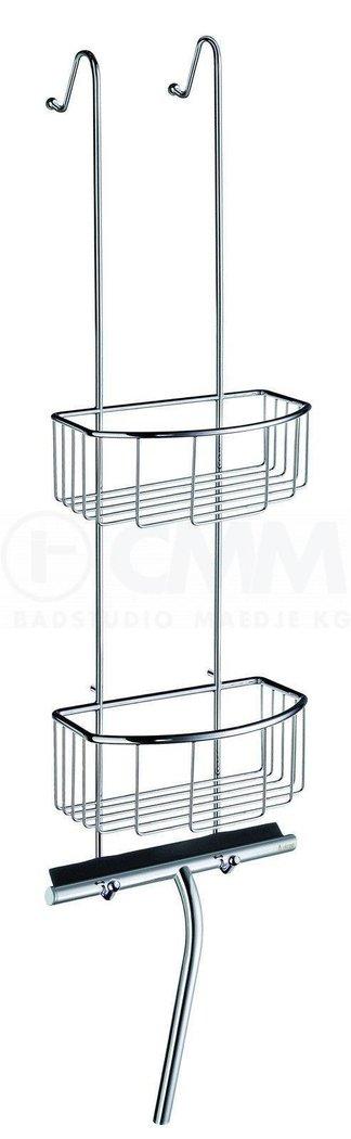 Ablage Dusche Saugnapf : inkl. Duschwischer, Glasschutzkanten + Saugnapf, Messing verchromt