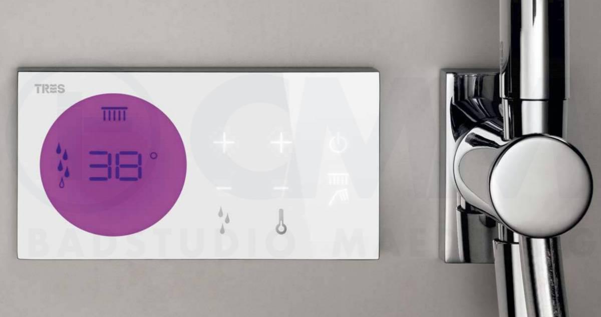 Regendusche Unterputz : TRES Digitale Design Unterputz Duschanlage mit QUADRO Edelstahl