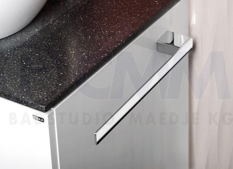 Design handtuchhalter quadro f r seitliche m belmontage f rechts u links 34cm verchromt - Handtuchhalter design ...