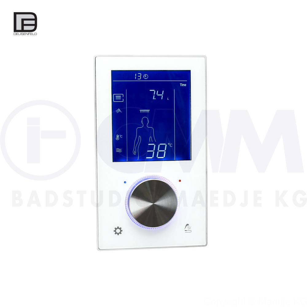 deusenfeld unterputz digital thermostat armatur mit 2 wege umsteller touchbedienung timer led usw. Black Bedroom Furniture Sets. Home Design Ideas