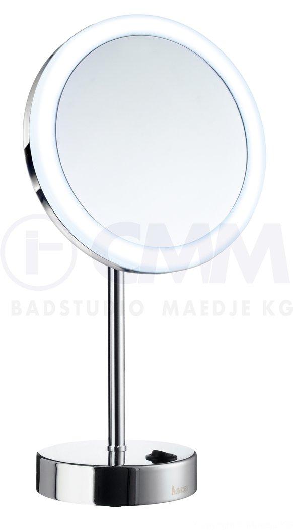 Design batterie led stand kosmetikspiegel 20cm 5x vergr erung dual light warm kaltlicht - Kosmetikspiegel led batterie ...