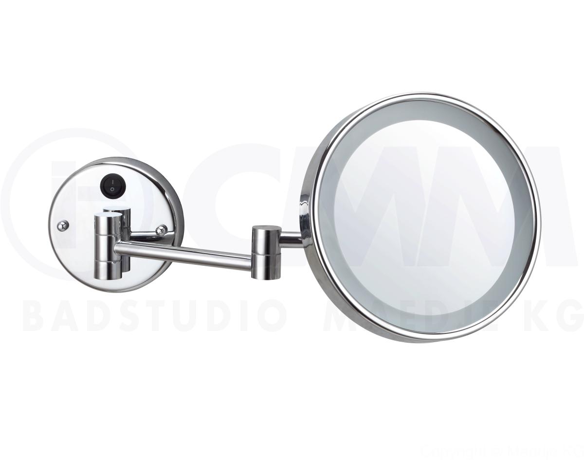 deusenfeld wled700d led kosmetikspiegel spiegel direktanschluss 7 fach 20cm ebay. Black Bedroom Furniture Sets. Home Design Ideas