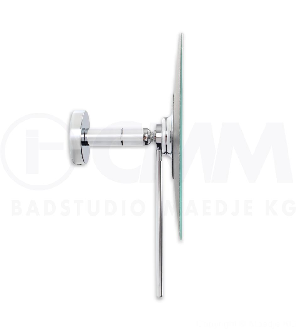 deusenfeld kr7c design wand kosmetikspiegel round 7 fach einseitig kugelgelenk 18cm. Black Bedroom Furniture Sets. Home Design Ideas