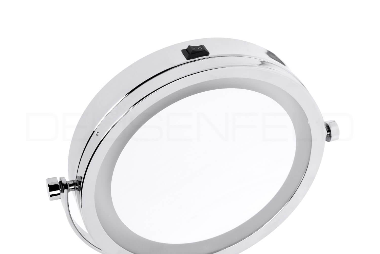 Deusenfeld wl5cb batterie led doppel wand kosmetikspiegel 5x vergr erung normal 17 5cm - Kosmetikspiegel led batterie ...
