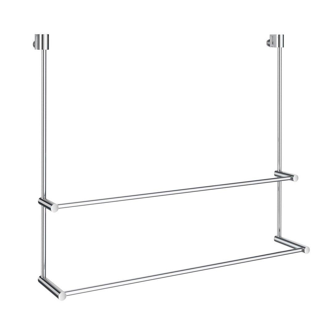 smedbo dk3102 design handtuchhalter doppelt f r dusche glaswand f r 3 10mm glas 600x485x70 110mm. Black Bedroom Furniture Sets. Home Design Ideas