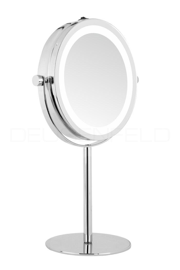 Deusenfeld sl5cb batterie led doppel stand kosmetikspiegel 5 fach normalspiegel 17 5cm hell - Kosmetikspiegel led batterie ...