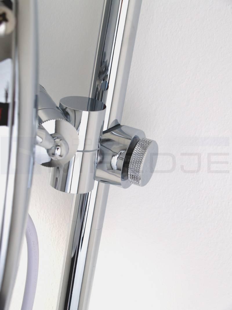 beleuchteter led kosmetikspiegel auf verstellbarer stange 5 fach vergr erung 25cm verchr. Black Bedroom Furniture Sets. Home Design Ideas