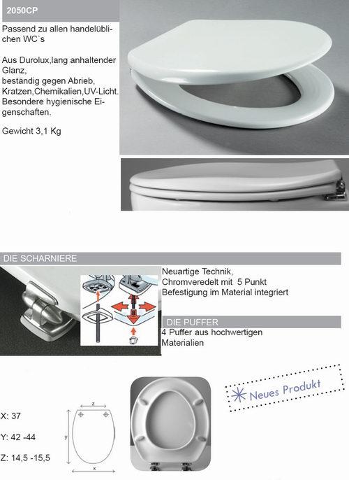 thermoset wc sitz heavy ohne sichtbare schrauben massive scharniere wei. Black Bedroom Furniture Sets. Home Design Ideas