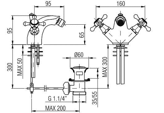 nostalgie antik bidet armatur windsor chrom. Black Bedroom Furniture Sets. Home Design Ideas