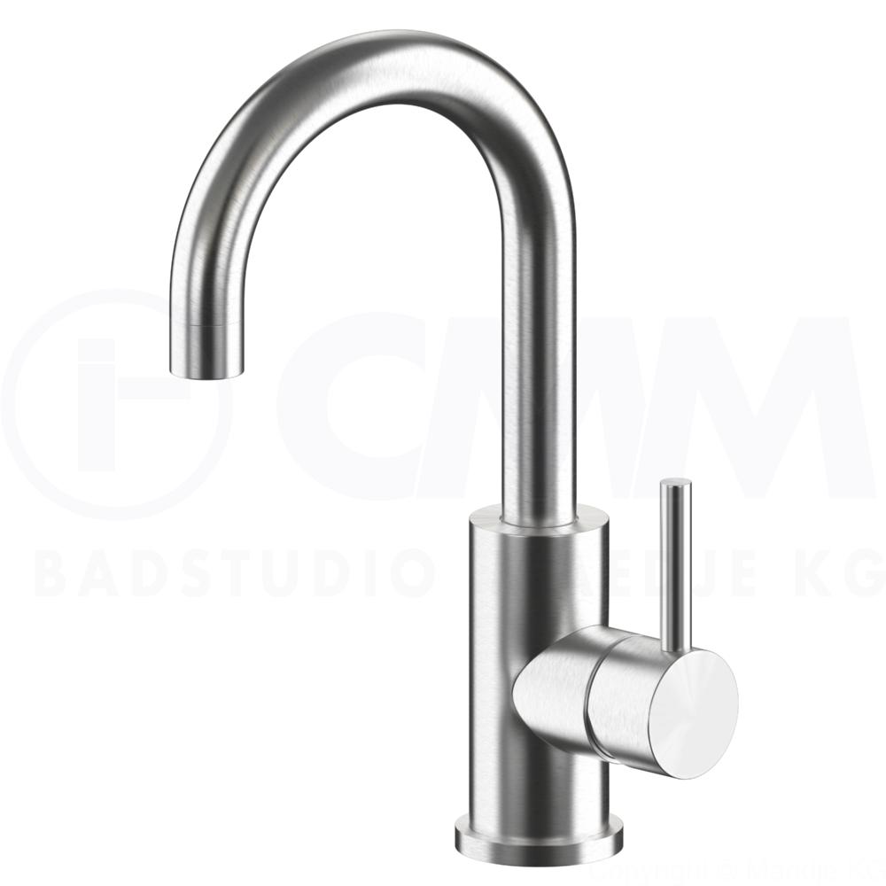 Deusenfeld Design Edelstahl Waschtisch Armatur Design M8
