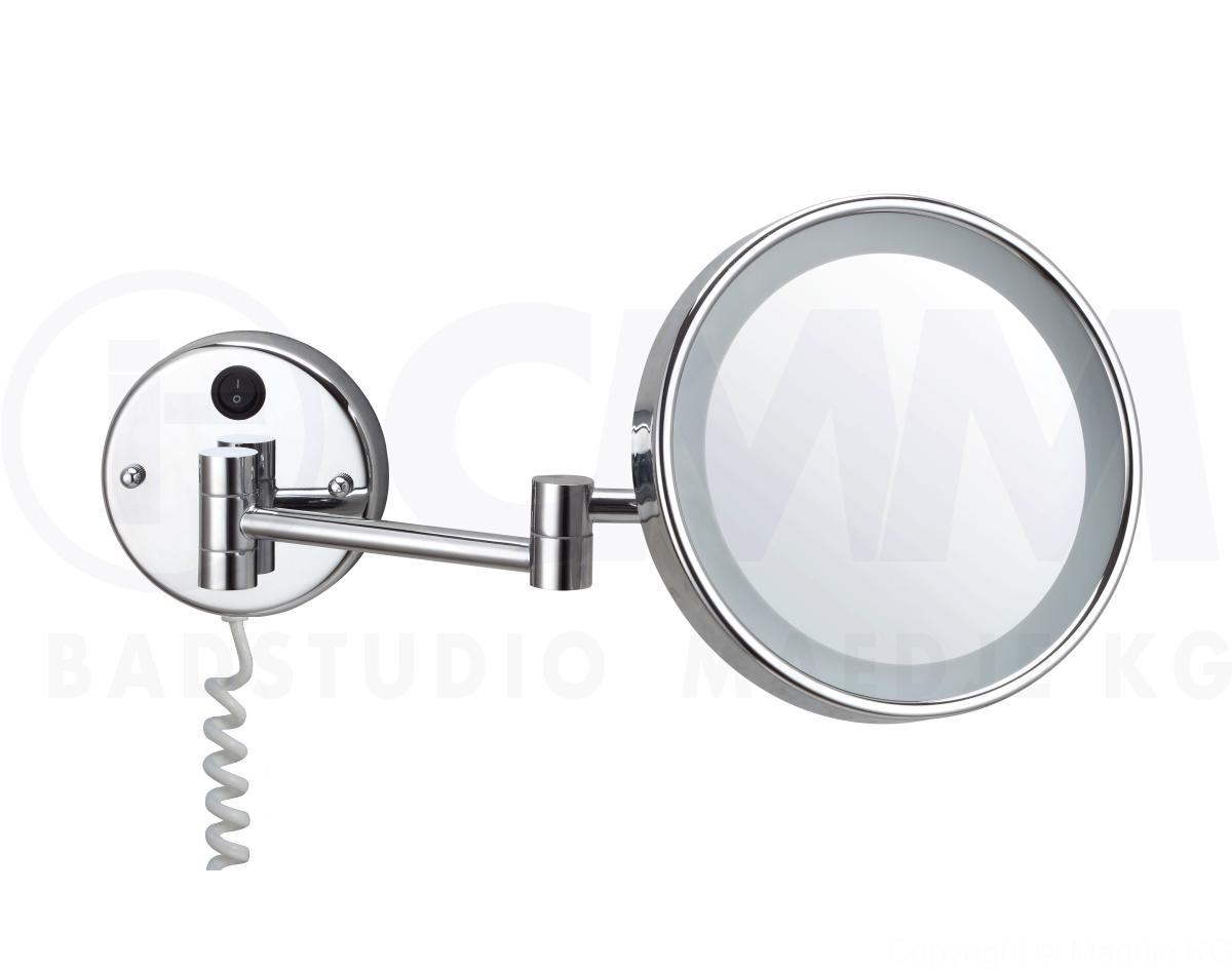 Kosmetikspiegel Mit Led Beleuchtung | Wled500 Led Kosmetikspiegel 5x Vergrosserung O20cm Tageslicht