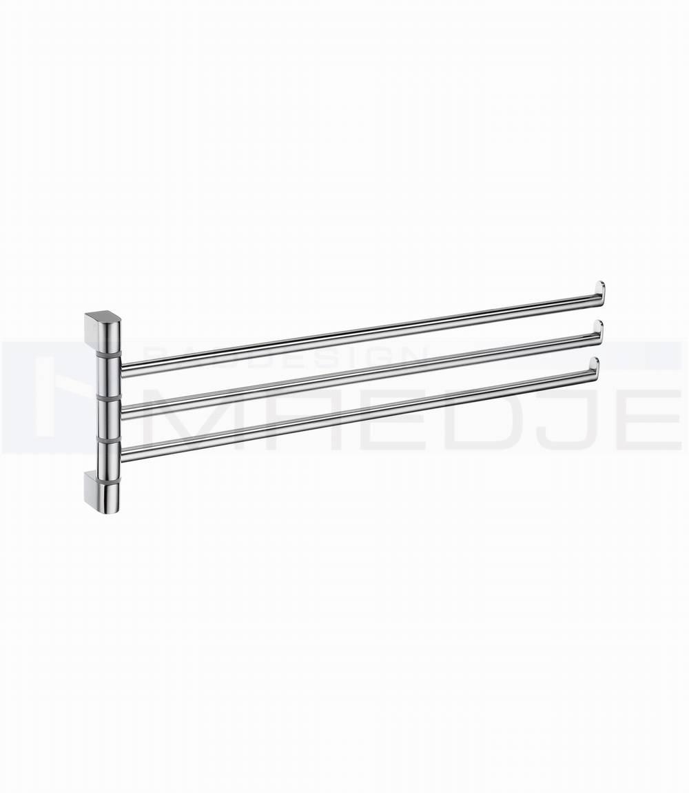 Design edelstahl 3 fach schwenkbarer handtuchhalter spa for Handtuchhalter design