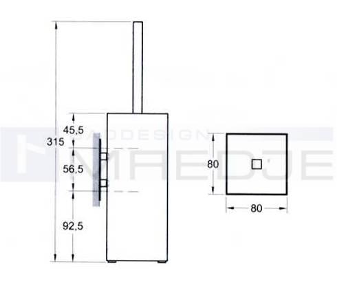 design wand wc b rstengarnitur quadro messing hochglanz chrom. Black Bedroom Furniture Sets. Home Design Ideas