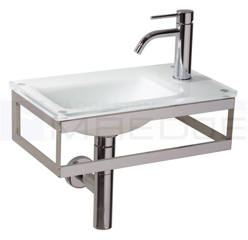 design g ste glas waschtisch pocia 45x26cm white milk nicht mehr lieferbar. Black Bedroom Furniture Sets. Home Design Ideas