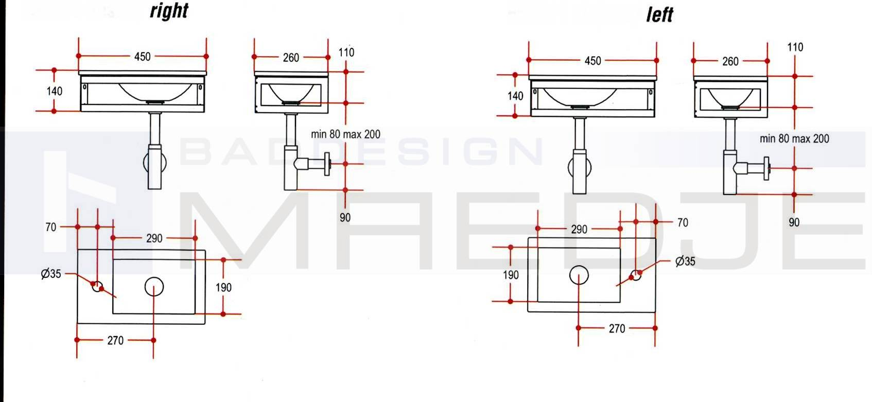 Design Gaste Glas Waschtisch Pocia 45x26cm Black Cuttlefish