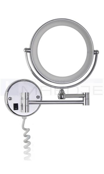 beleuchteter doppel led kosmetikspiegel 7 fach vergr erung normalspiegel 20cm ip44 verchromt. Black Bedroom Furniture Sets. Home Design Ideas