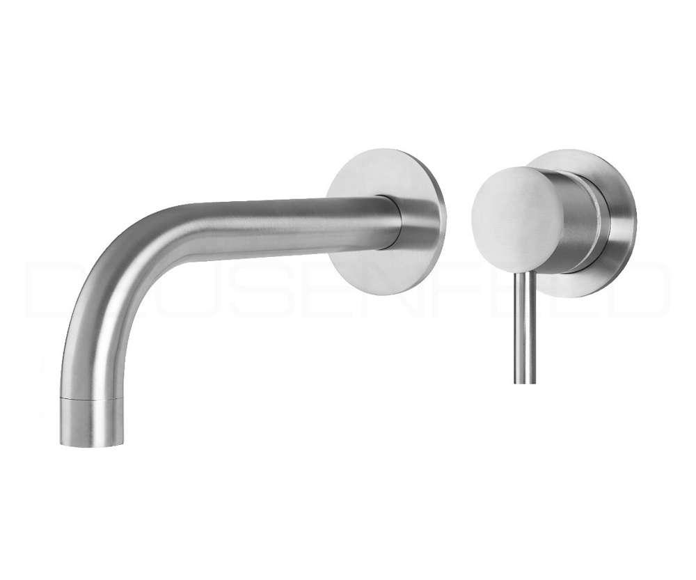 Deusenfeld Unterputz Edelstahl Waschtisch Armatur Design M8 19cm