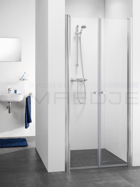 sealskin duschabtrennung pendelt r f r nische 100x195cm profil chrom 6mm esg klar. Black Bedroom Furniture Sets. Home Design Ideas