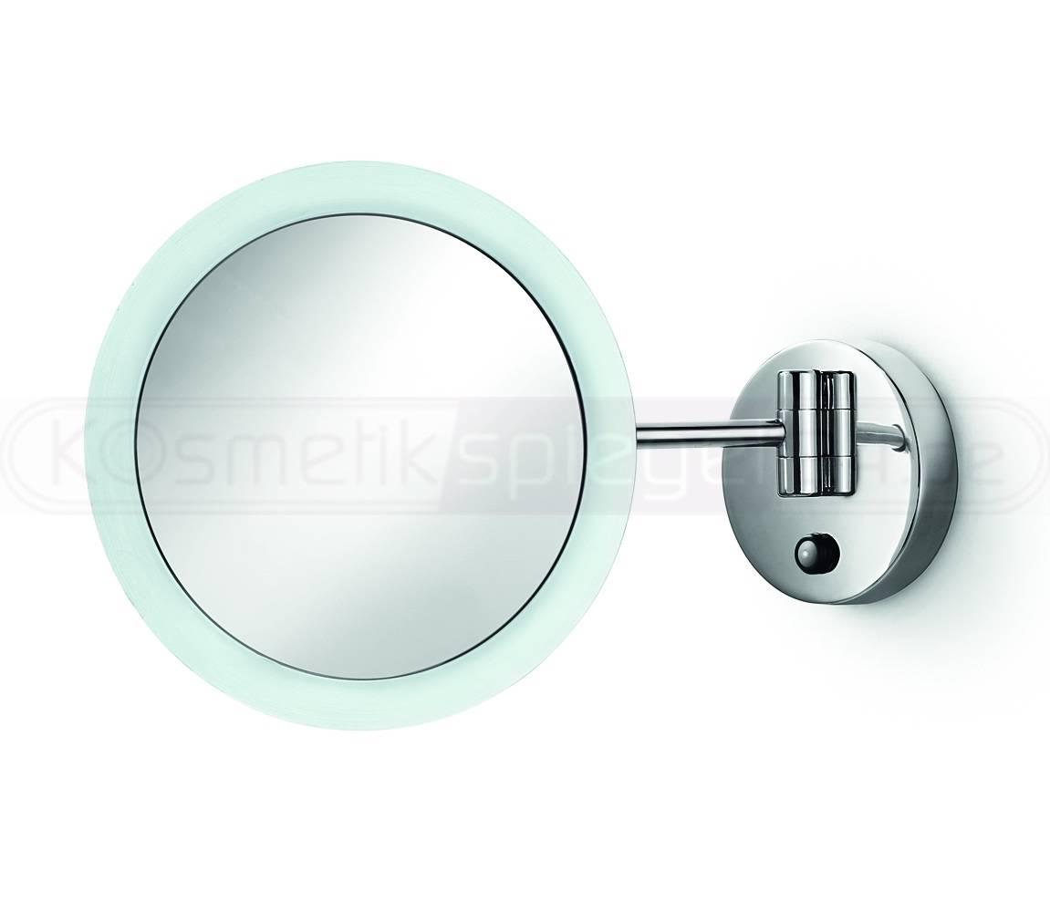 led kosmetikspiegel 23cm 3 fach vergr erung wirkt wie 5 fach direktanschluss. Black Bedroom Furniture Sets. Home Design Ideas