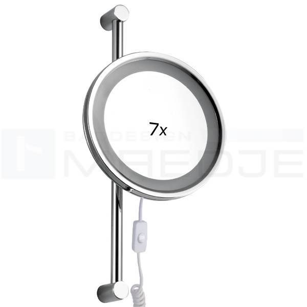 Kosmetikspiegel 7 Fach : beleuchteter led kosmetikspiegel auf verstellbarer stange 7 fach vergr erung 25cm verchr ~ Eleganceandgraceweddings.com Haus und Dekorationen