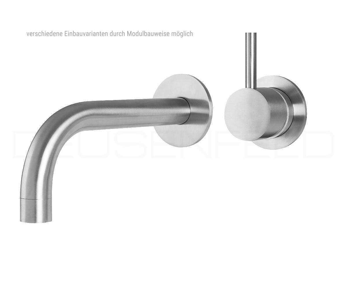 """deusenfeld unterputz edelstahl waschtisch armatur """"design m8"""", 25cm"""