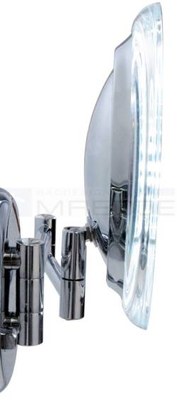 design akku led wand kosmetikspiegel 5 fach verg erung 20cm verchromt inkl akkus und ladeger t. Black Bedroom Furniture Sets. Home Design Ideas