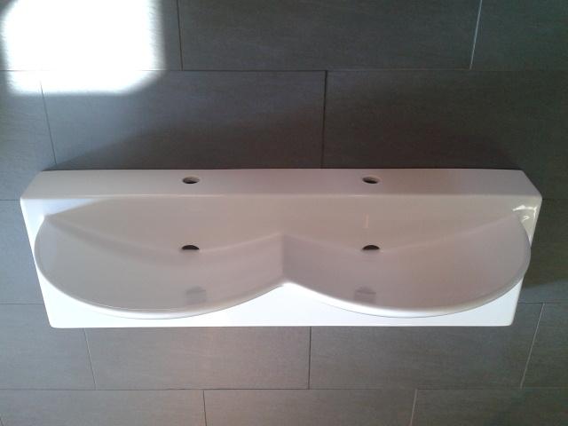 Artceram designer doppelwaschtisch 110cm keramik wei for Designer doppelwaschtisch