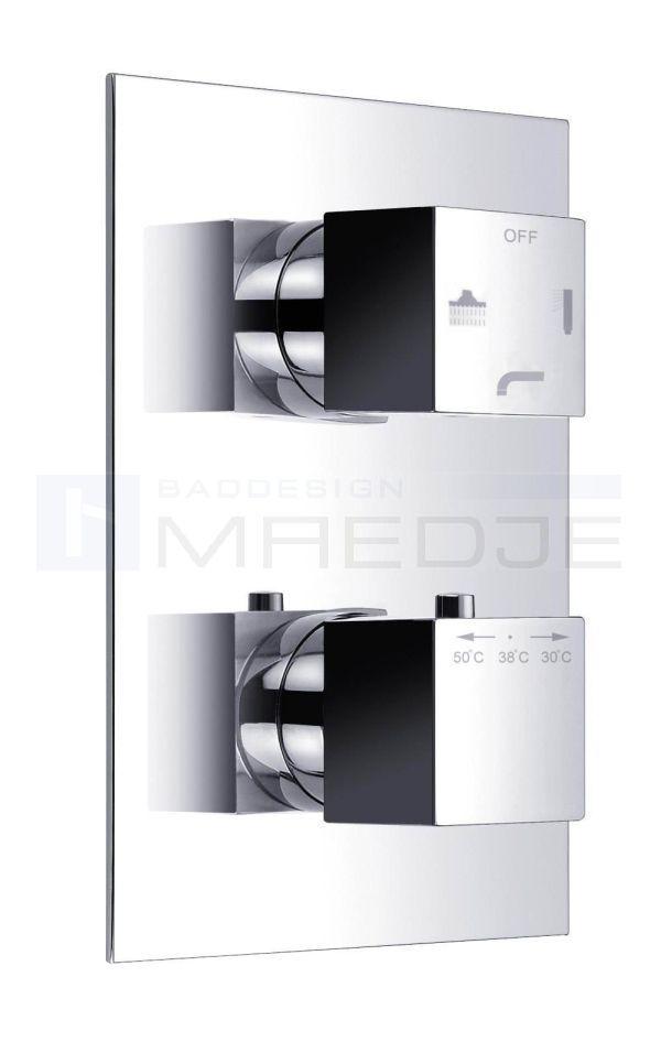 design deusenfeld unterputz thermostat quadro 08 mit 3. Black Bedroom Furniture Sets. Home Design Ideas