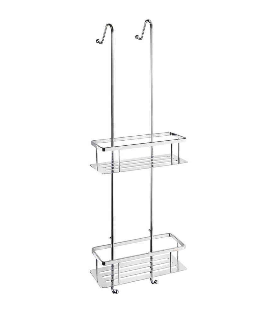 Top Smedbo design Duschkorb doppelt zum hängen, mit mit Bodenplatten LL51