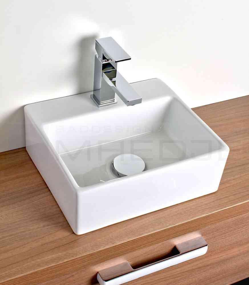 Waschtisch Für Aufsatzbecken design waschtisch aufsatzbecken quadro weiß 33 5 x 29cm mit