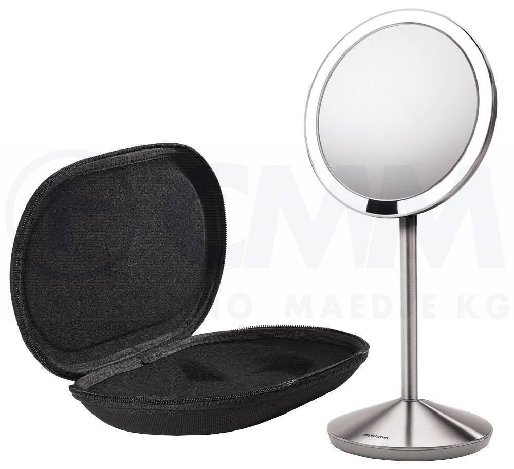 Kosmetikspiegel Akku Led Beleuchtung | St3004 Stand Edelstahl Sensor Akku Led Kosmetikspiegel 10x
