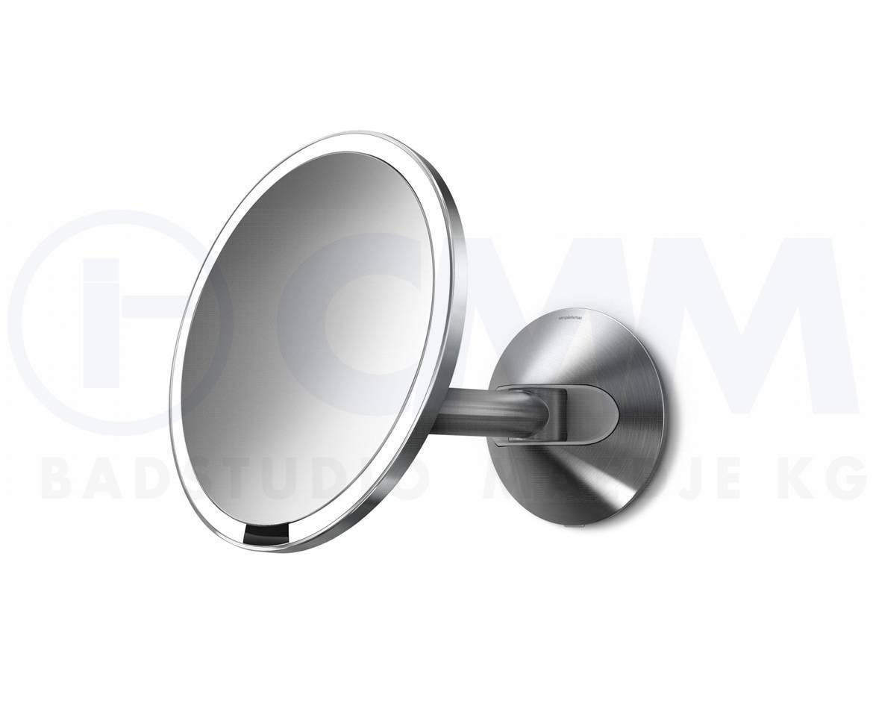 Simplehuman ST3002  Wand Edelstahl Sensor Akku LED Kosmetikspiegel