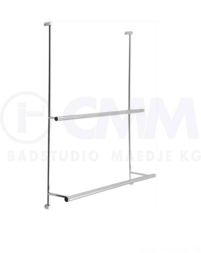Design Handtuchhalter für Dusche Glaswand verchromtes Messing für 4 8mm Glas 600x760x124mm