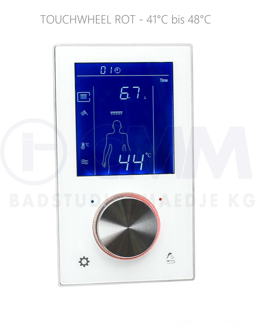 Deusenfeld Unterputz Digital Thermostat Armatur Mit 2 Wege Umsteller Touchbedienung Timer Led Usw