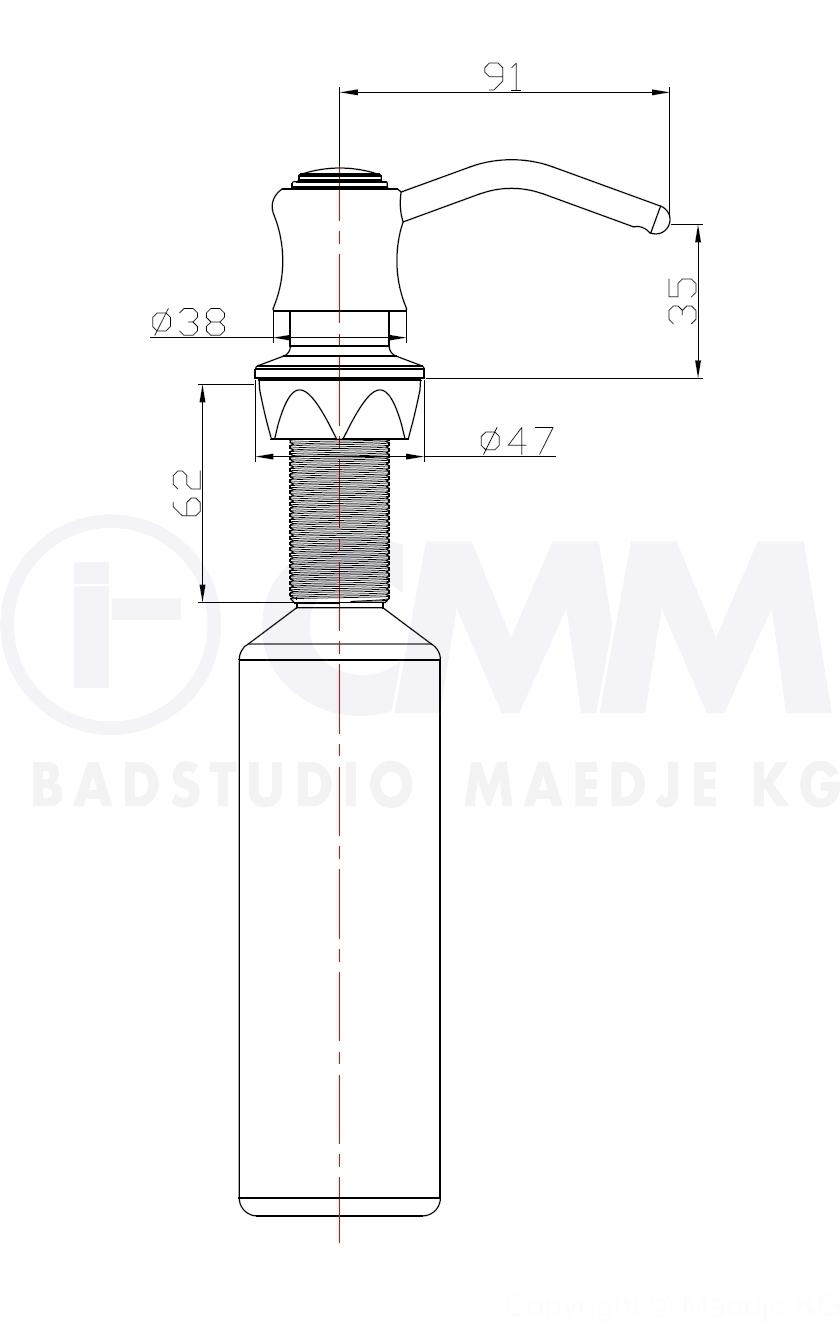 designer einbauseifenspender antik seifenspender chrom massive pumpe 400ml. Black Bedroom Furniture Sets. Home Design Ideas