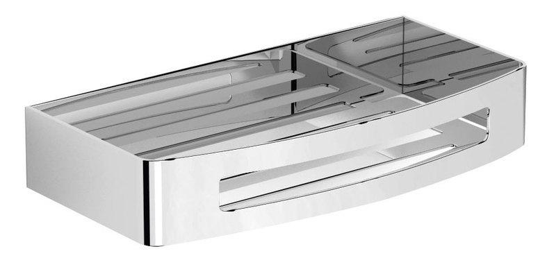 duschablage edelstahl design duschkorb smart bodenplatte polierter lift clean funktion saugnapf