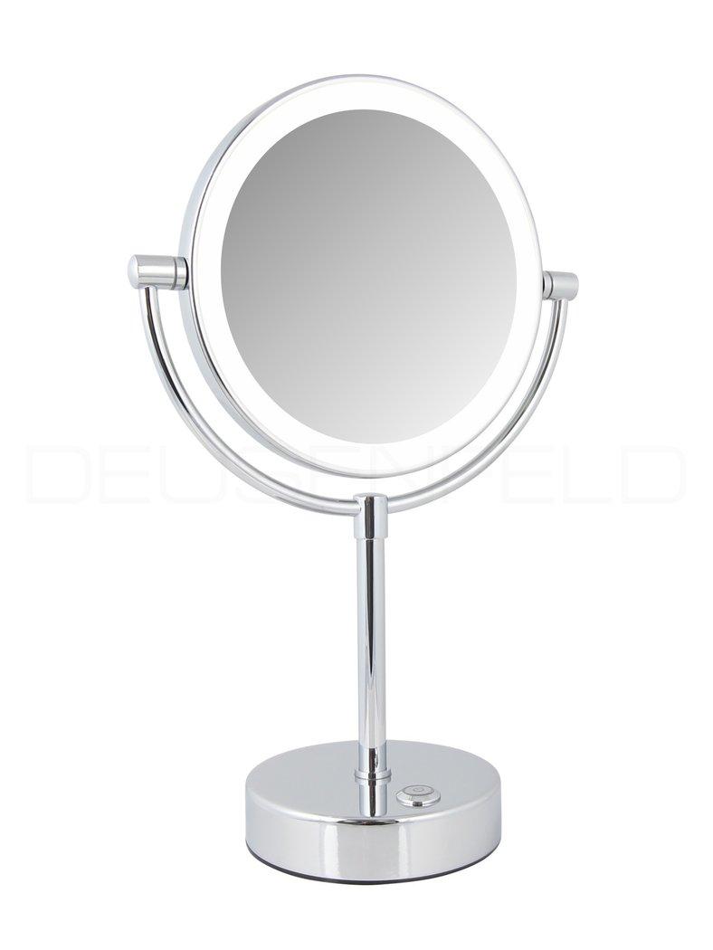 Deusenfeld design led doppel stand kosmetikspiegel 2 touch touchschalter batteriebetrieb - Kosmetikspiegel led batterie ...